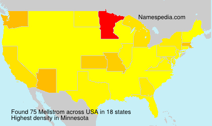 Surname Mellstrom in USA