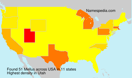 Surname Mellus in USA