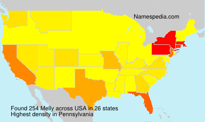 Surname Melly in USA