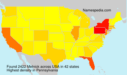 Surname Melnick in USA