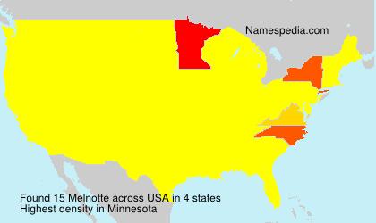 Familiennamen Melnotte - USA