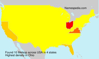 Surname Melsop in USA