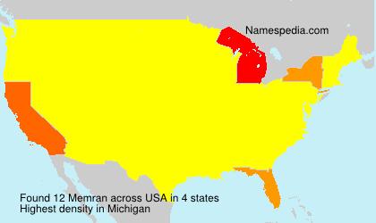 Surname Memran in USA