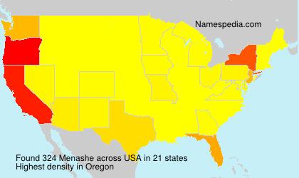 Surname Menashe in USA