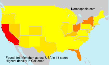 Surname Menchen in USA