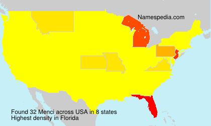 Surname Menci in USA