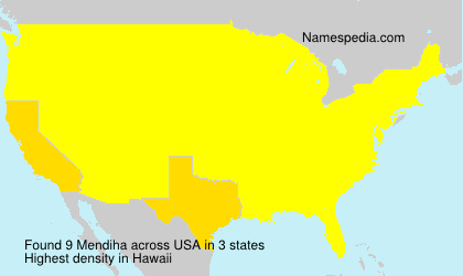 Surname Mendiha in USA