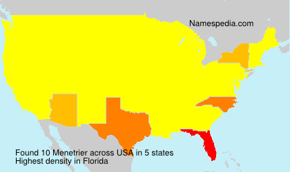 Surname Menetrier in USA