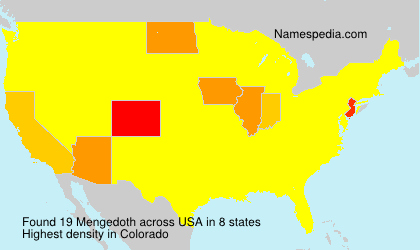 Surname Mengedoth in USA