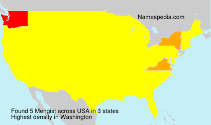 Surname Mengist in USA