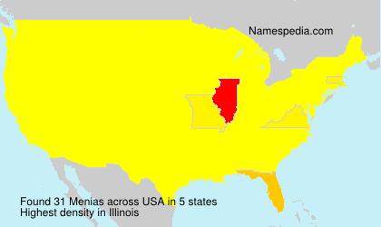 Surname Menias in USA