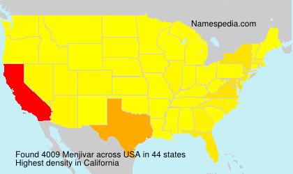 Surname Menjivar in USA