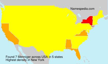 Surname Menniger in USA