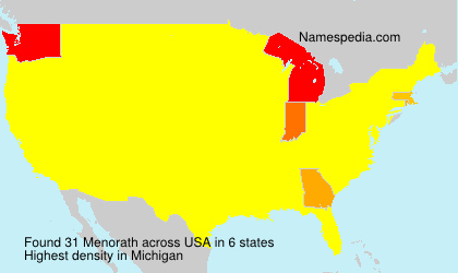 Surname Menorath in USA