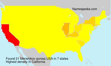 Surname Menshikov in USA