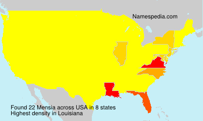 Surname Mensia in USA