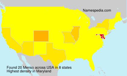 Familiennamen Menso - USA