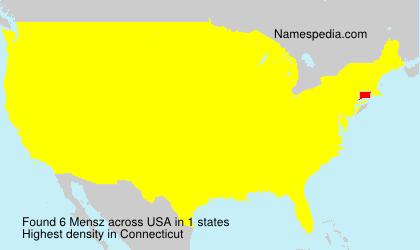Surname Mensz in USA