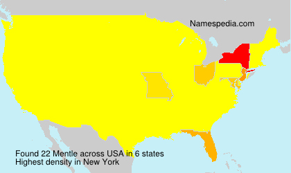Surname Mentle in USA