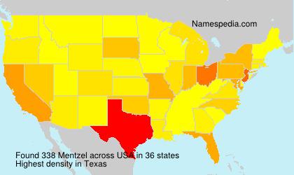 Familiennamen Mentzel - USA