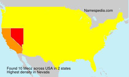Surname Meoz in USA