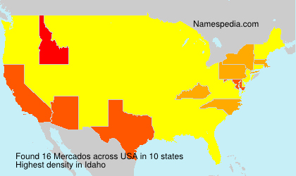 Surname Mercados in USA