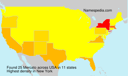 Familiennamen Mercato - USA