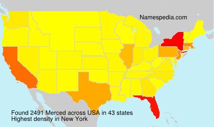 Familiennamen Merced - USA