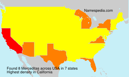 Surname Merceditas in USA