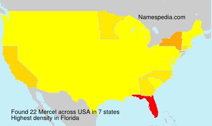 Surname Mercel in USA