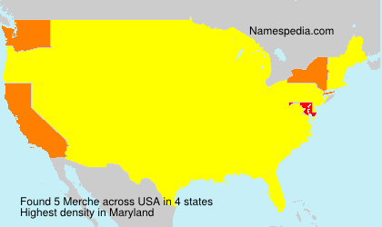 Familiennamen Merche - USA