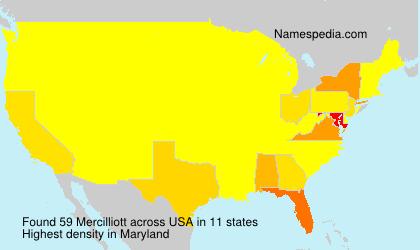 Surname Mercilliott in USA