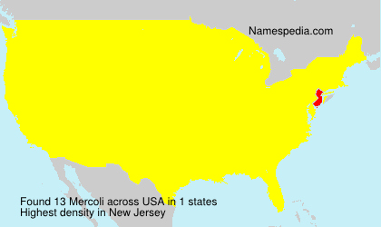 Surname Mercoli in USA