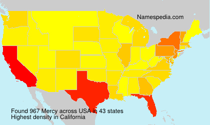 Surname Mercy in USA