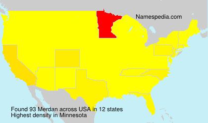 Surname Merdan in USA