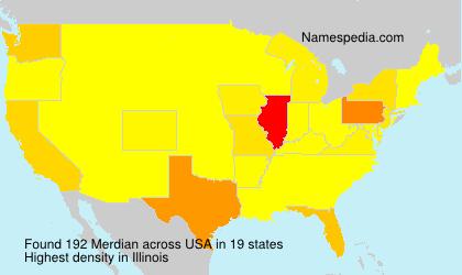 Familiennamen Merdian - USA