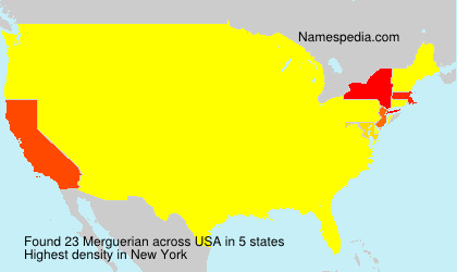Surname Merguerian in USA