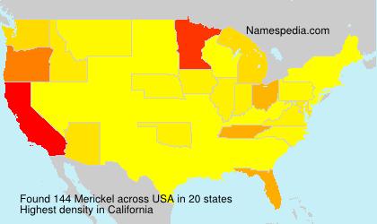 Surname Merickel in USA