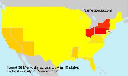 Surname Merkosky in USA