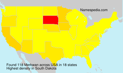 Surname Merkwan in USA