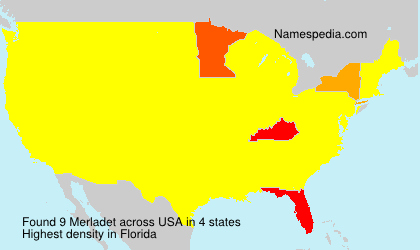 Surname Merladet in USA