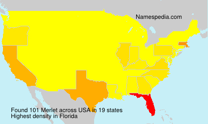 Familiennamen Merlet - USA