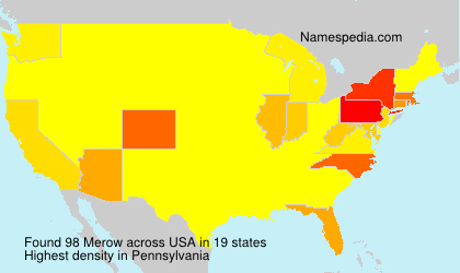 Surname Merow in USA
