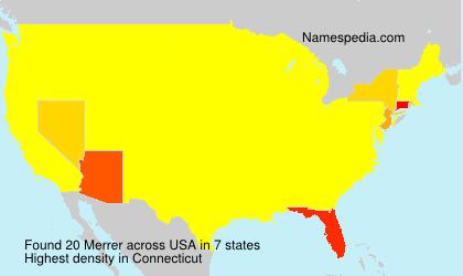 Surname Merrer in USA