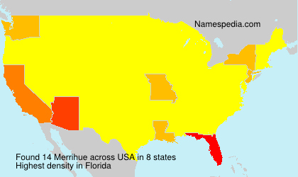 Surname Merrihue in USA