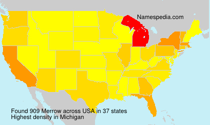 Surname Merrow in USA