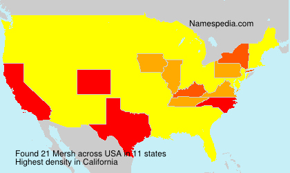 Surname Mersh in USA