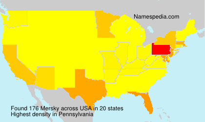 Surname Mersky in USA