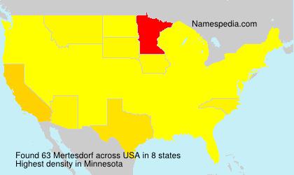 Surname Mertesdorf in USA