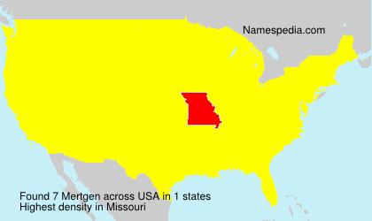 Familiennamen Mertgen - USA